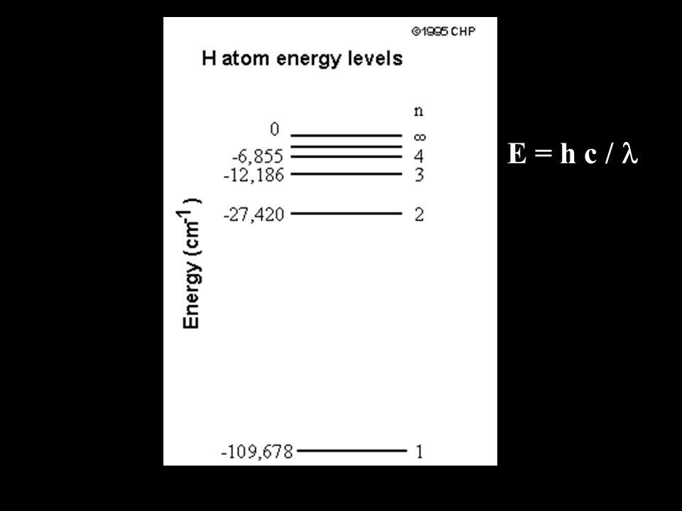 E = h c / l