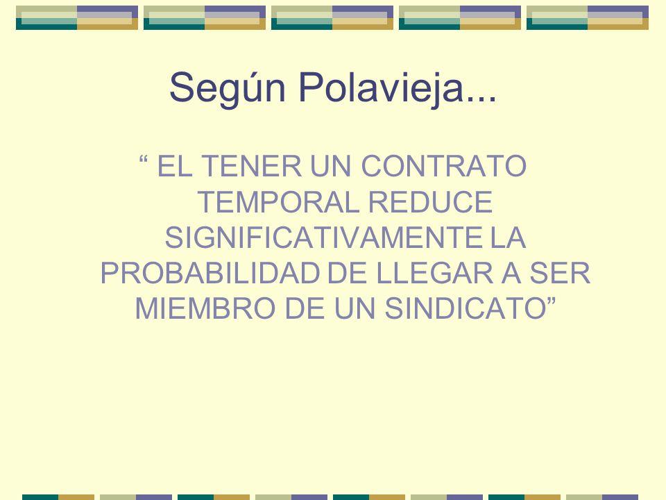 Según Polavieja...