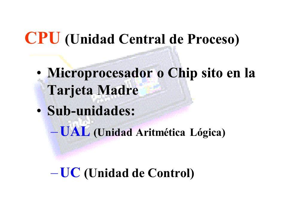 CPU (Unidad Central de Proceso)
