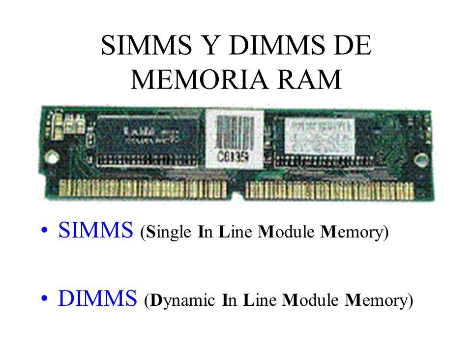 SIMMS Y DIMMS DE MEMORIA RAM