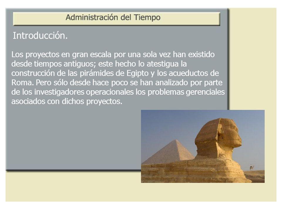 Introducción. Los proyectos en gran escala por una sola vez han existido. desde tiempos antiguos; este hecho lo atestigua la.