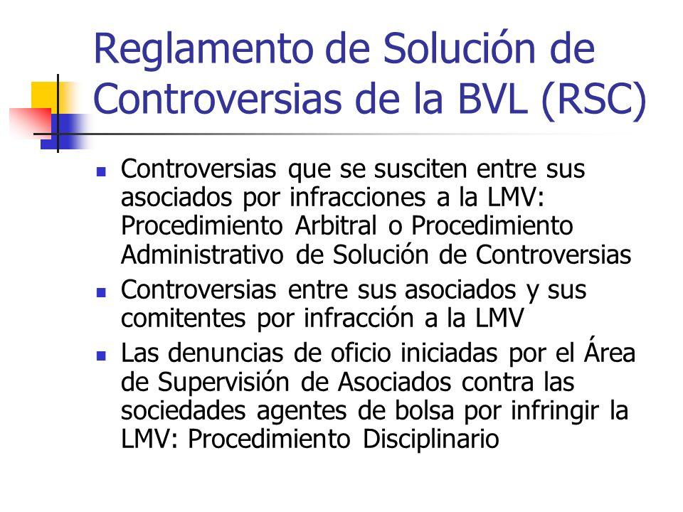 Reglamento de Solución de Controversias de la BVL (RSC)