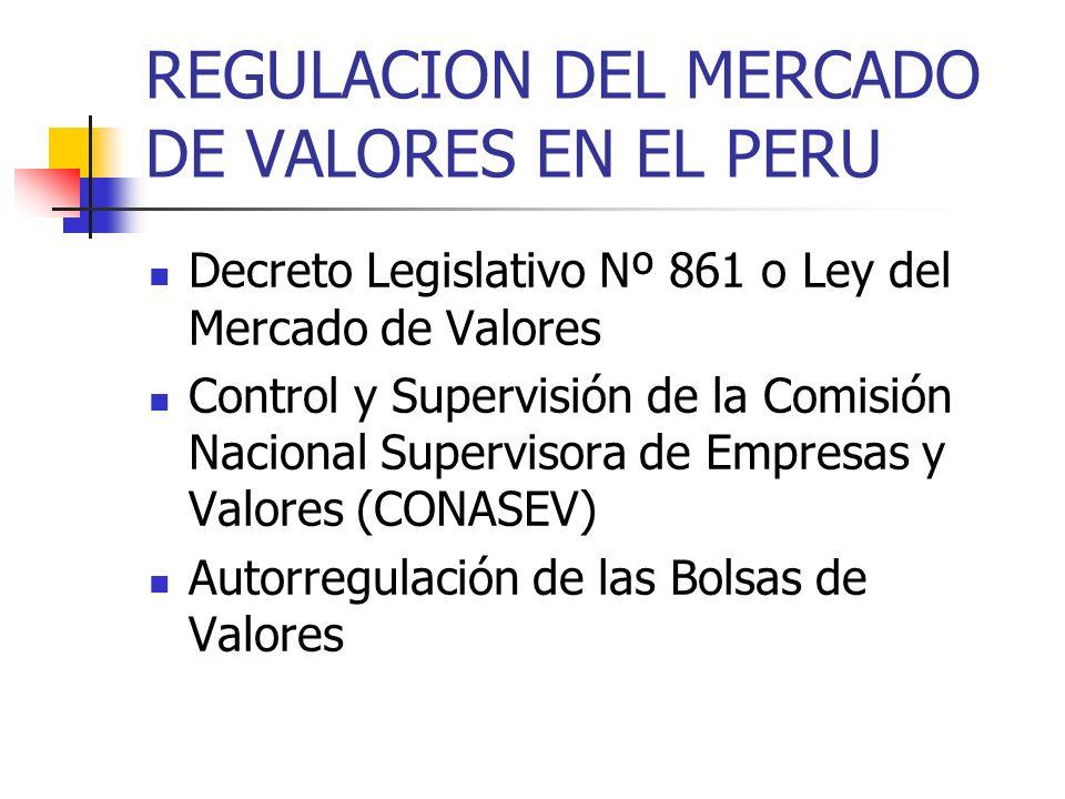 REGULACION DEL MERCADO DE VALORES EN EL PERU