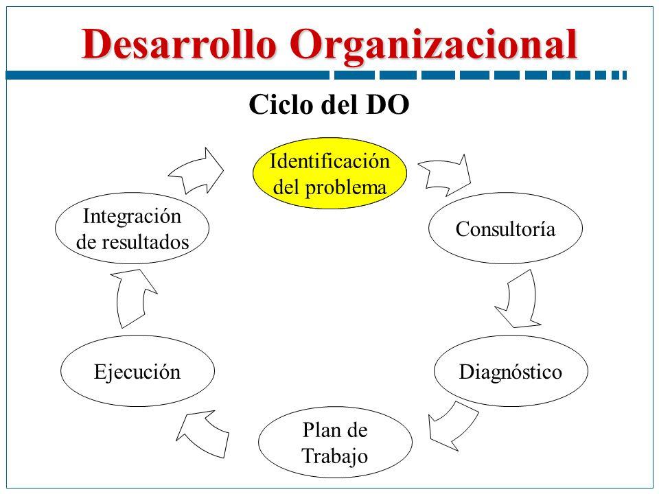 Ciclo del DO Identificación del problema Plan de Trabajo Diagnóstico