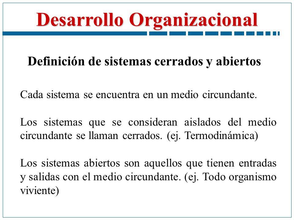 Definición de sistemas cerrados y abiertos