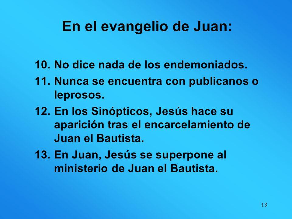 En el evangelio de Juan: