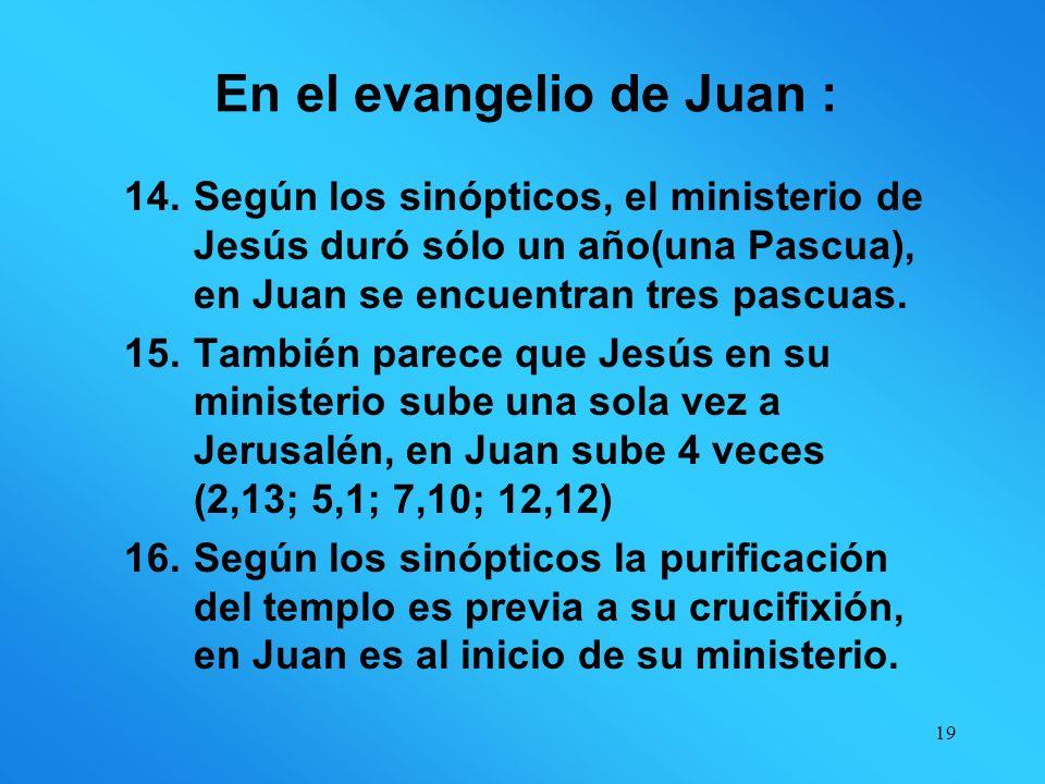 En el evangelio de Juan :