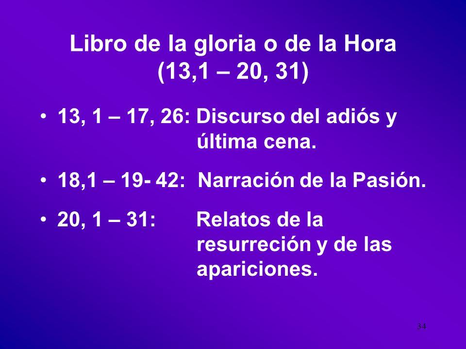 Libro de la gloria o de la Hora (13,1 – 20, 31)