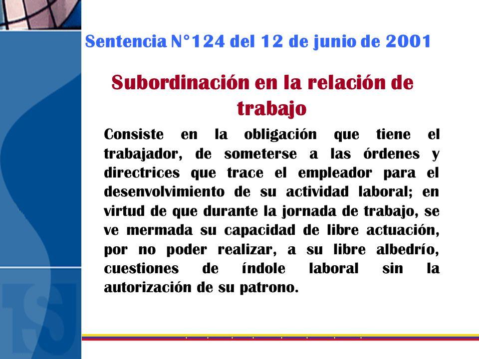 Sentencia N°124 del 12 de junio de 2001