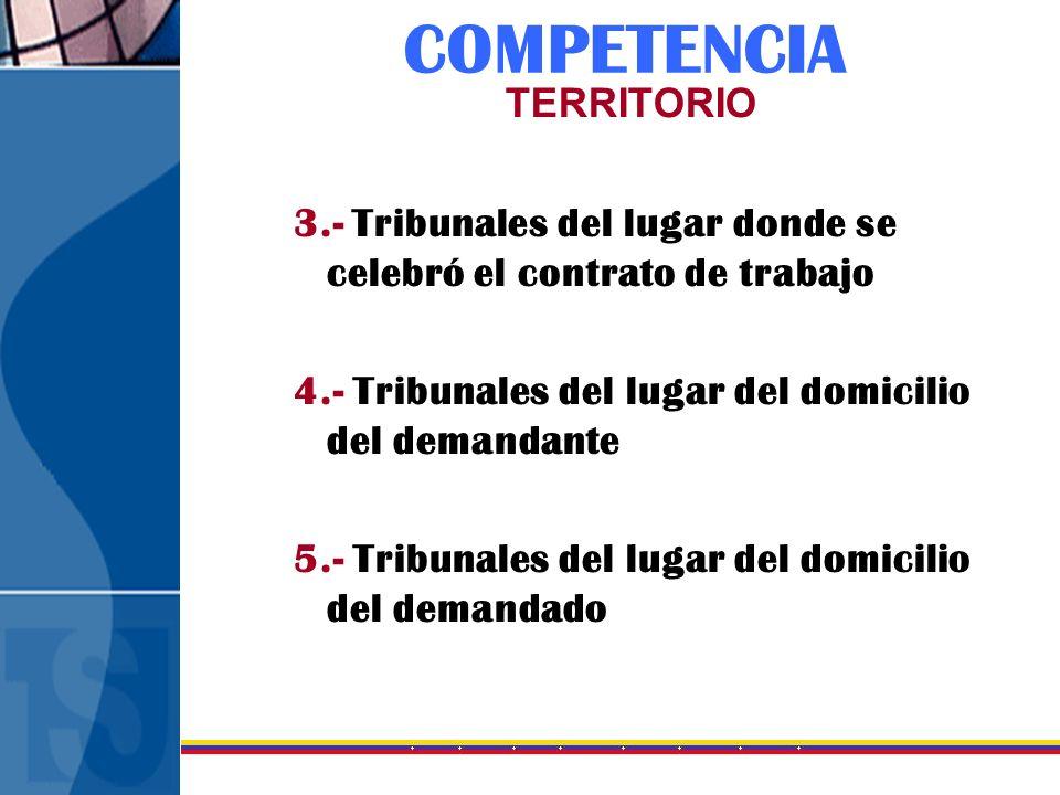 COMPETENCIA TERRITORIO