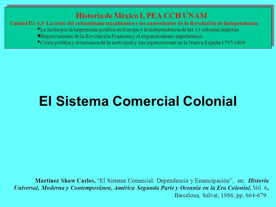 Historia de México I, PEA CCH UNAM El Sistema Comercial Colonial