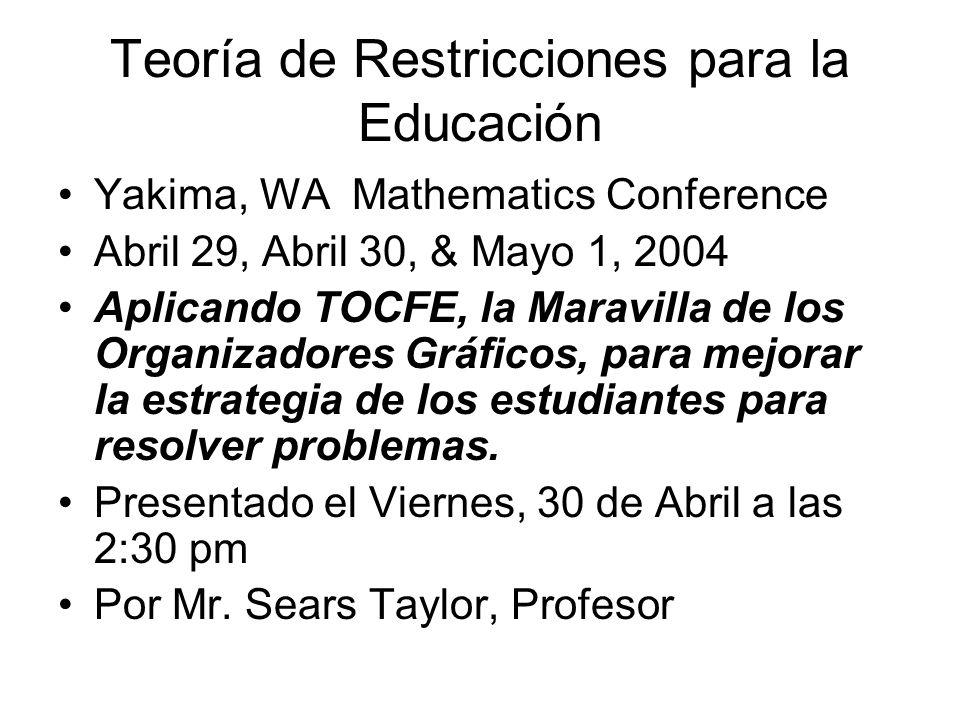 Teoría de Restricciones para la Educación