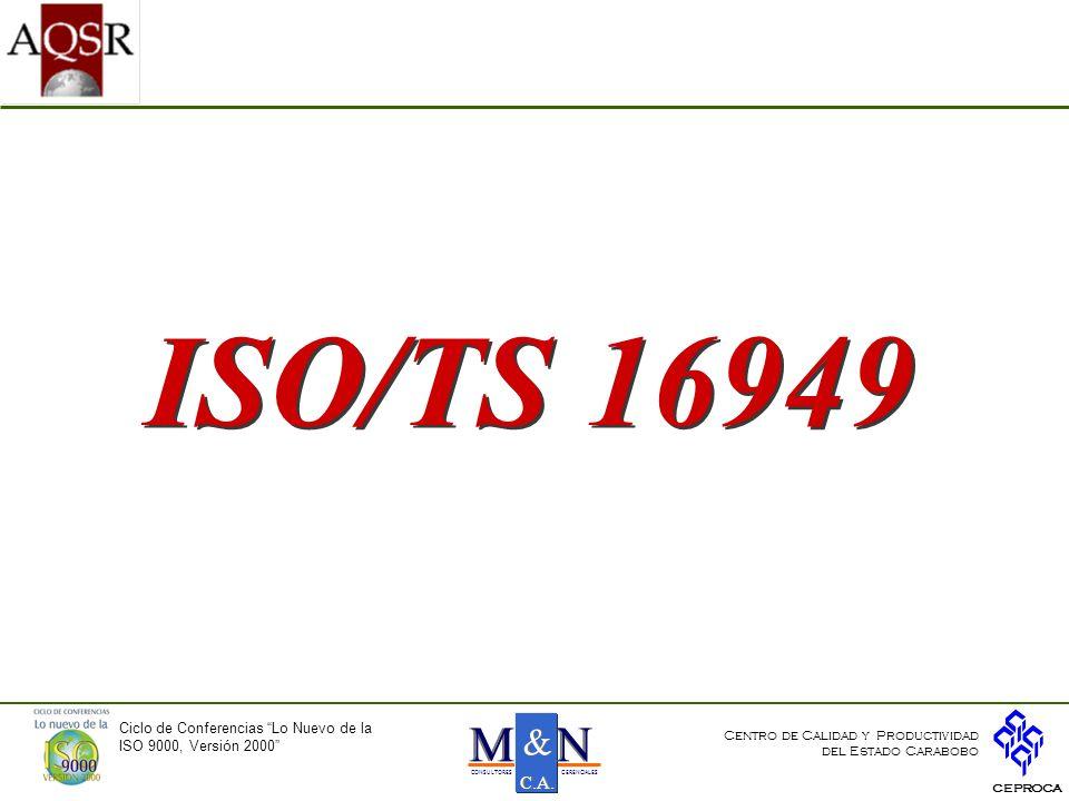 ISO/TS 16949 N M & C.A. Ciclo de Conferencias Lo Nuevo de la