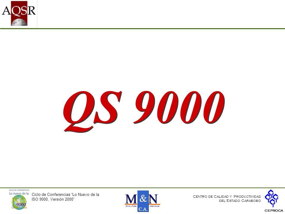 QS 9000 N M & C.A. Ciclo de Conferencias Lo Nuevo de la