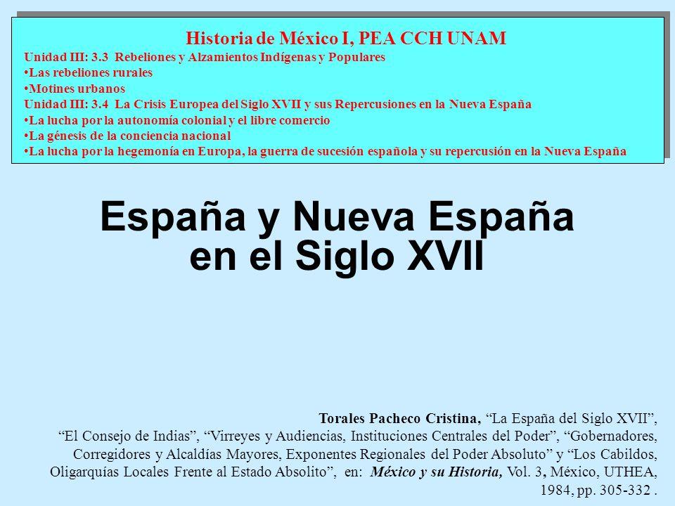 España y Nueva España en el Siglo XVII