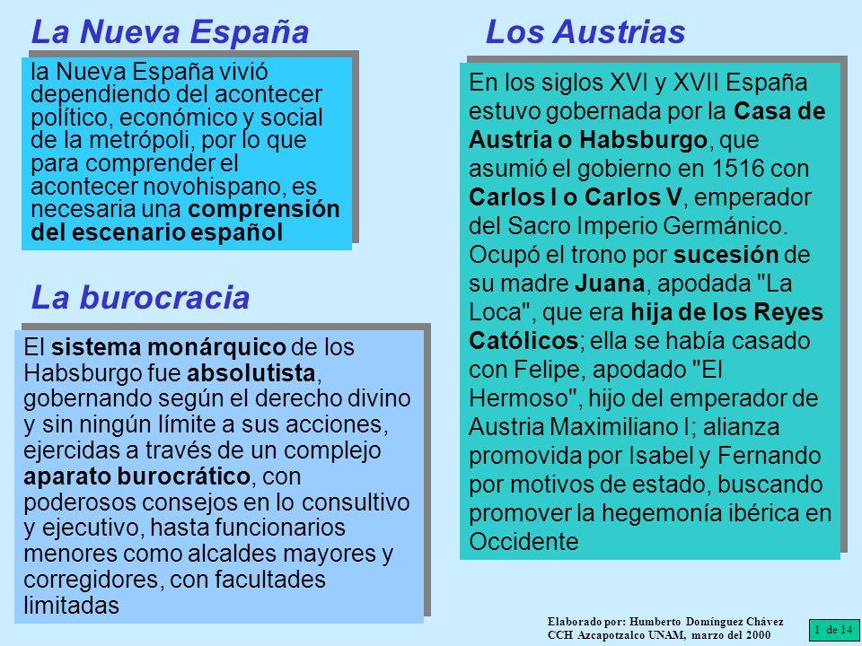 La Nueva España Los Austrias La burocracia