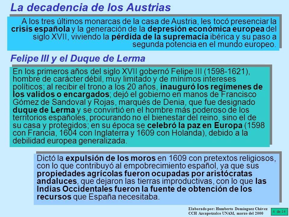 La decadencia de los Austrias