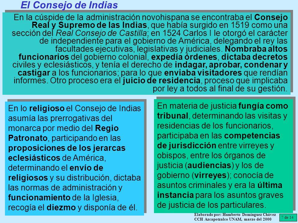 El Consejo de Indias