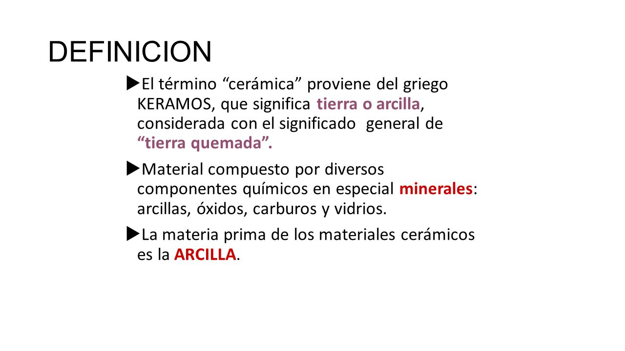 Unidades de competencia i ii iii y iv ppt descargar Definicion de ceramica