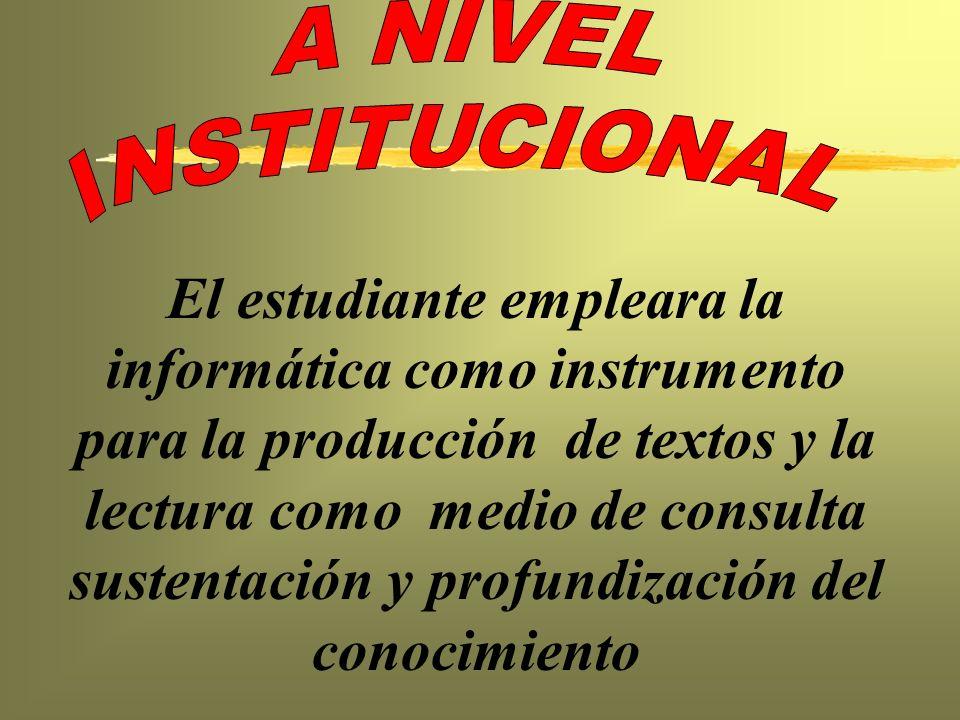 A NIVEL INSTITUCIONAL.