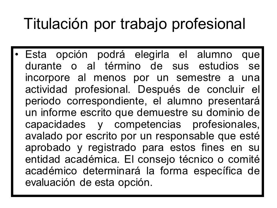 Titulación por trabajo profesional