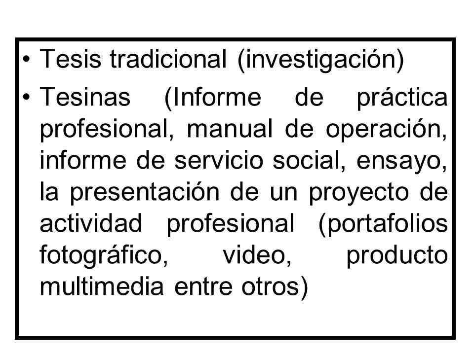 Tesis tradicional (investigación)
