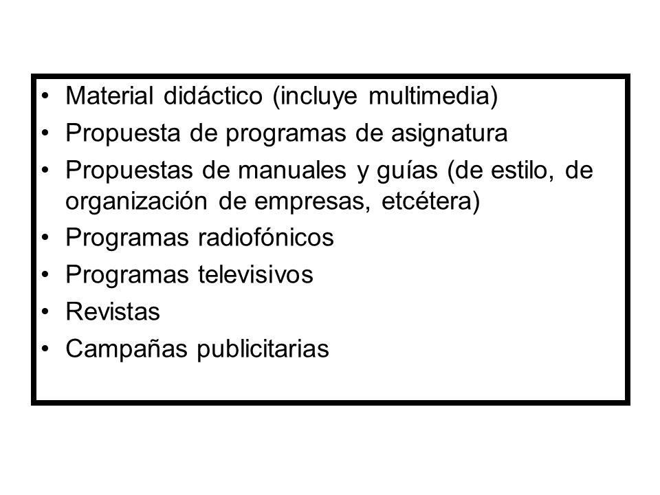 Material didáctico (incluye multimedia)
