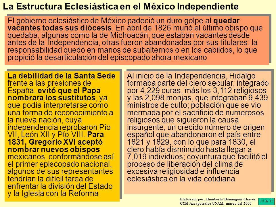 La Estructura Eclesiástica en el México Independiente