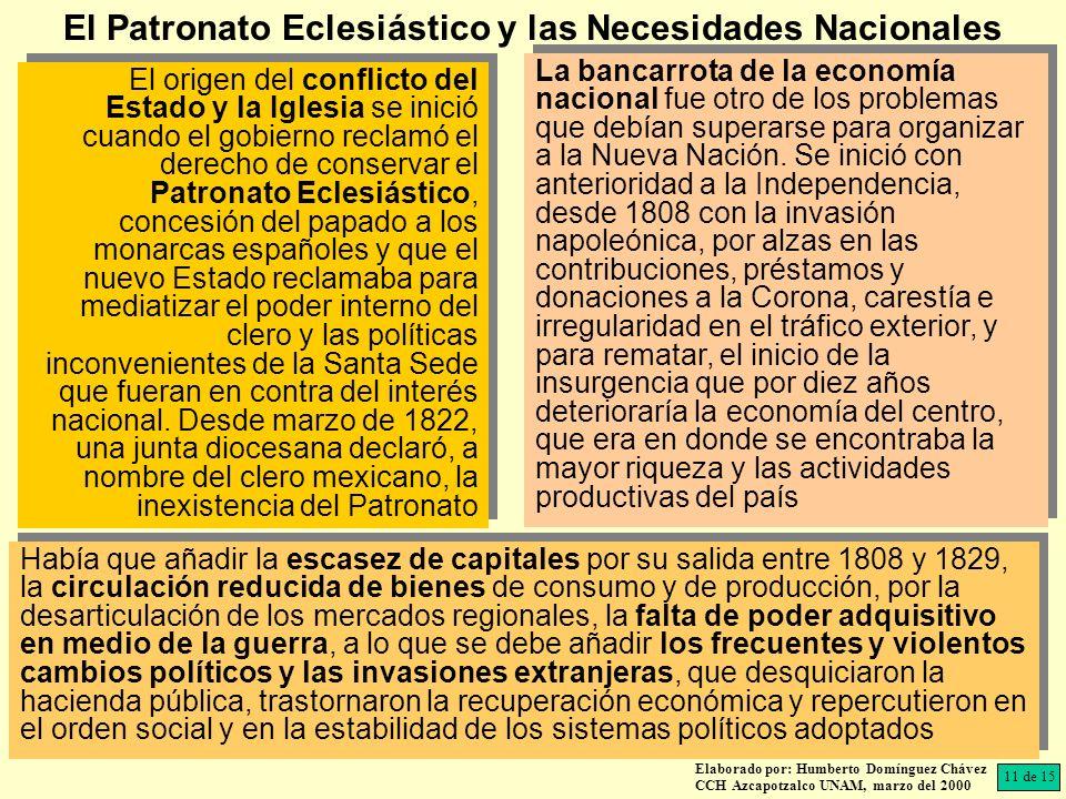 El Patronato Eclesiástico y las Necesidades Nacionales