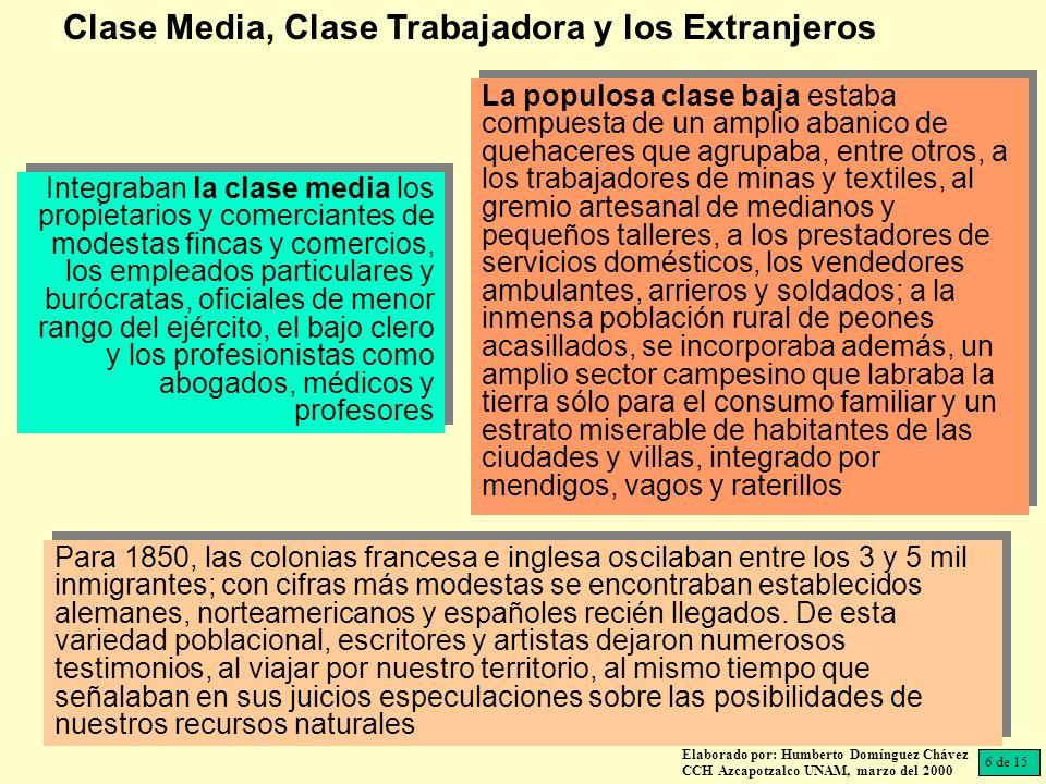 Clase Media, Clase Trabajadora y los Extranjeros