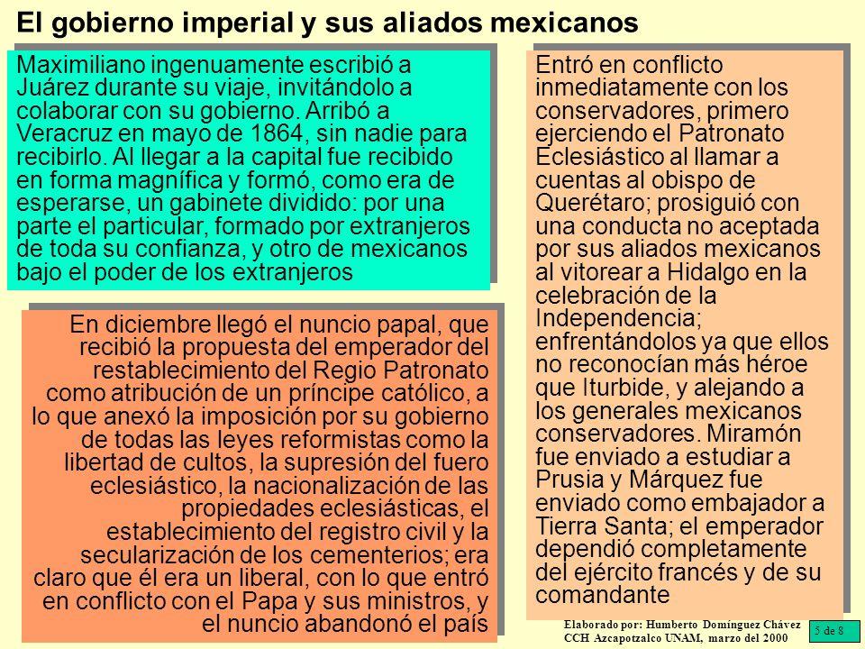 El gobierno imperial y sus aliados mexicanos