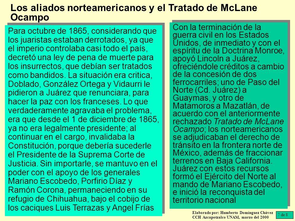 Los aliados norteamericanos y el Tratado de McLane Ocampo