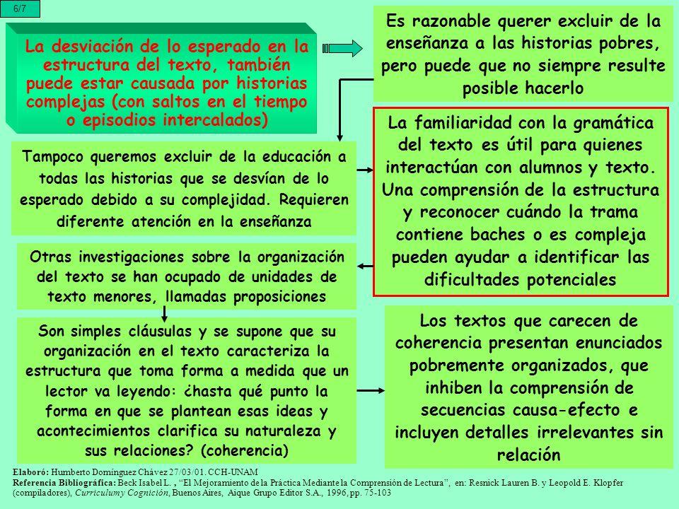 6/7 Es razonable querer excluir de la enseñanza a las historias pobres, pero puede que no siempre resulte posible hacerlo.