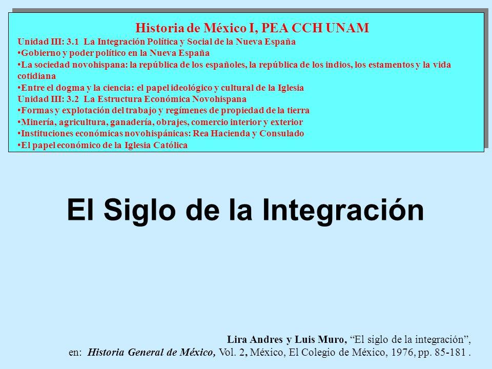 Historia de México I, PEA CCH UNAM El Siglo de la Integración