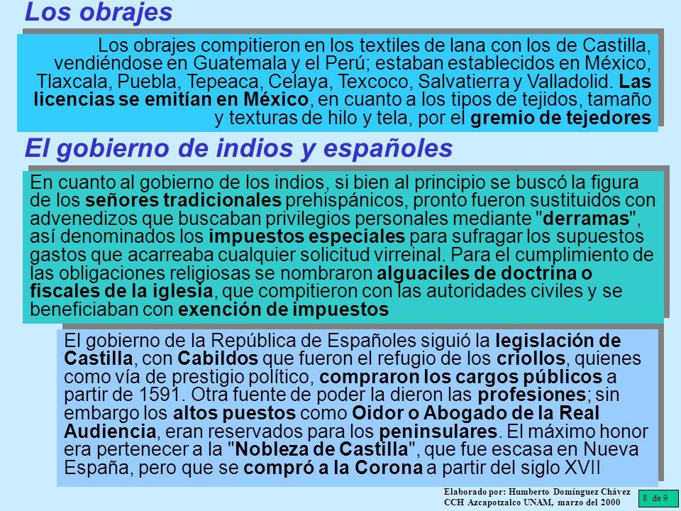 El gobierno de indios y españoles