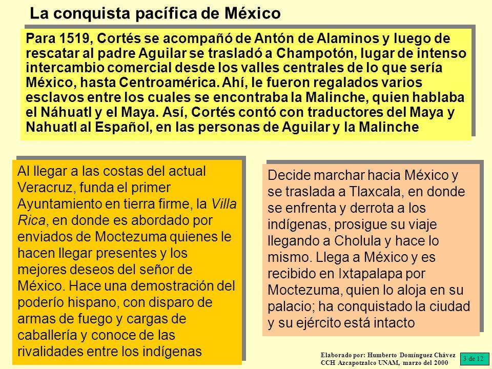 La conquista pacífica de México