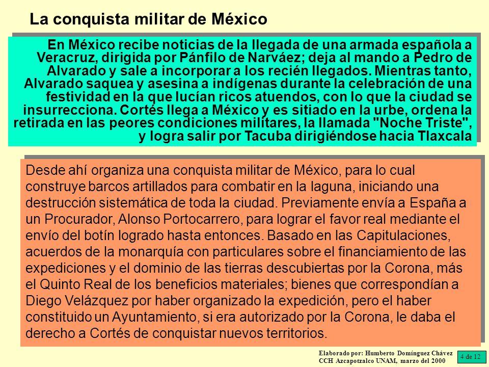 La conquista militar de México