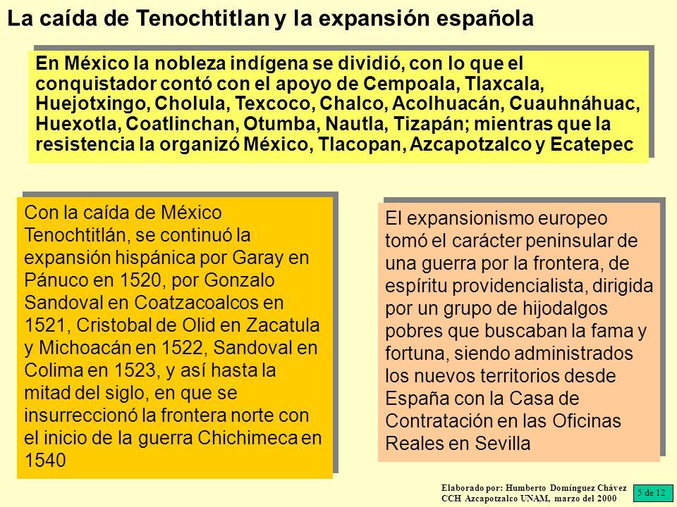 La caída de Tenochtitlan y la expansión española