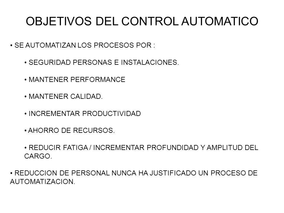 OBJETIVOS DEL CONTROL AUTOMATICO