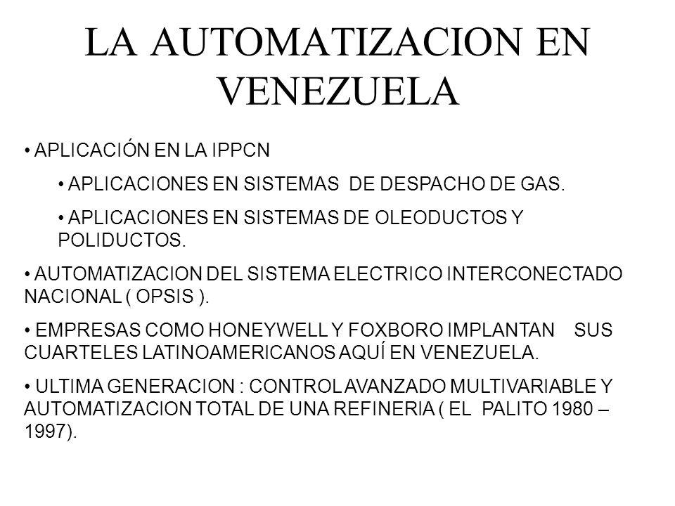 LA AUTOMATIZACION EN VENEZUELA