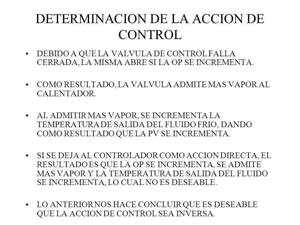 DETERMINACION DE LA ACCION DE CONTROL