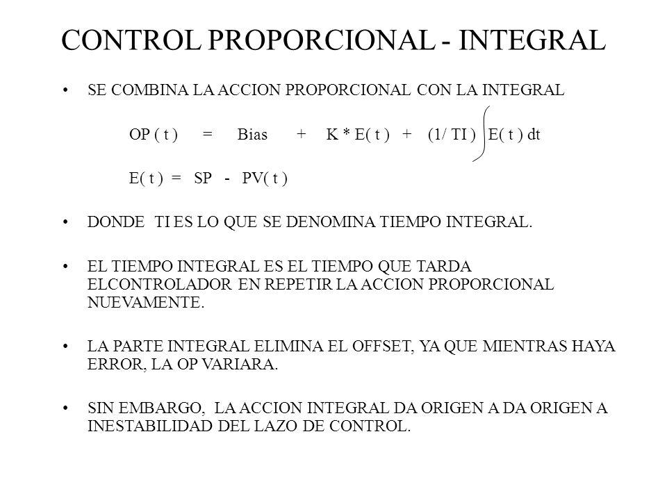 CONTROL PROPORCIONAL - INTEGRAL