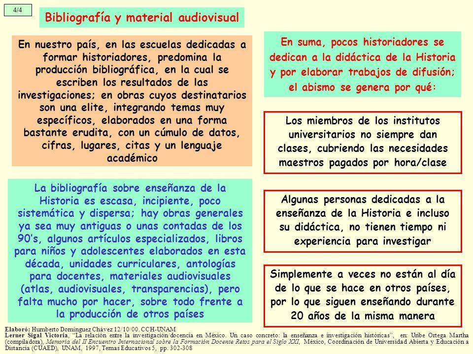 Bibliografía y material audiovisual