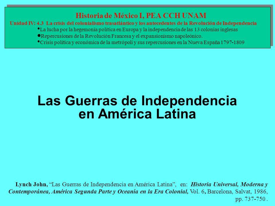 Las Guerras de Independencia en América Latina