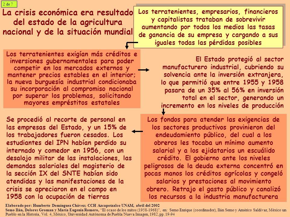 2 de 7La crisis económica era resultado del estado de la agricultura nacional y de la situación mundial.