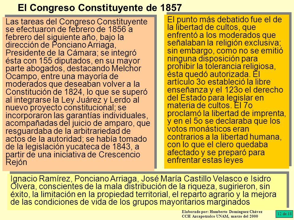 El Congreso Constituyente de 1857