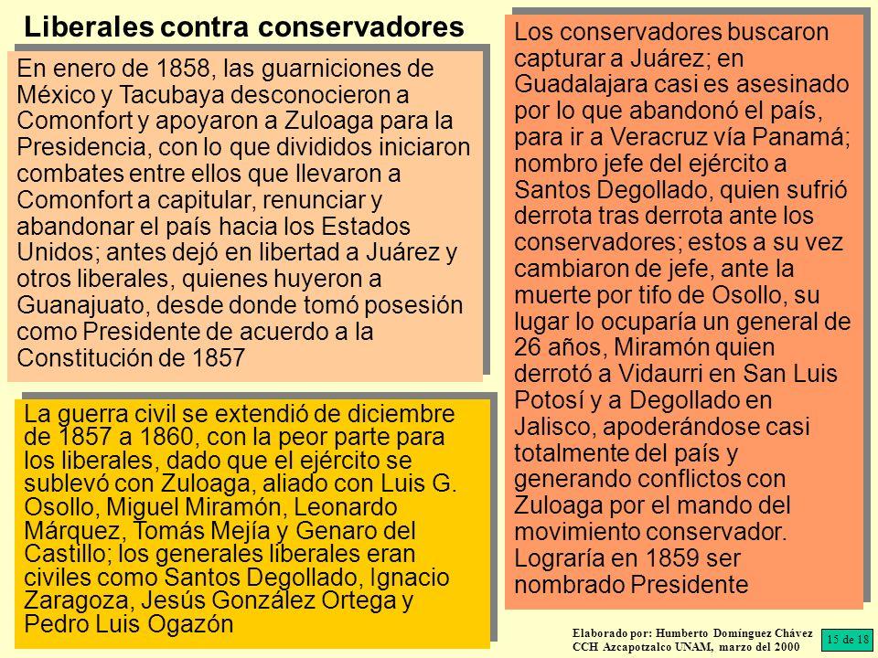Liberales contra conservadores