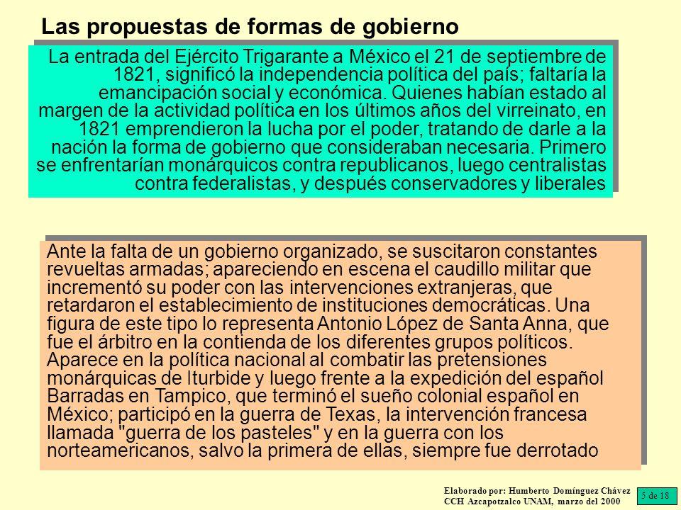 Las propuestas de formas de gobierno