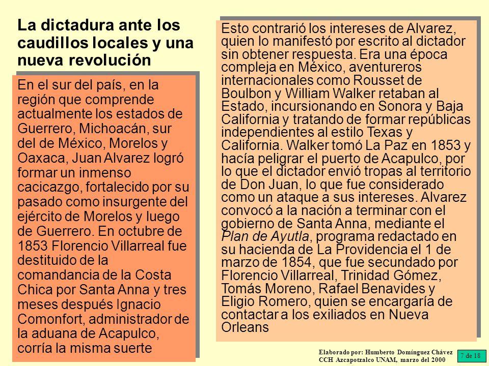 La dictadura ante los caudillos locales y una nueva revolución