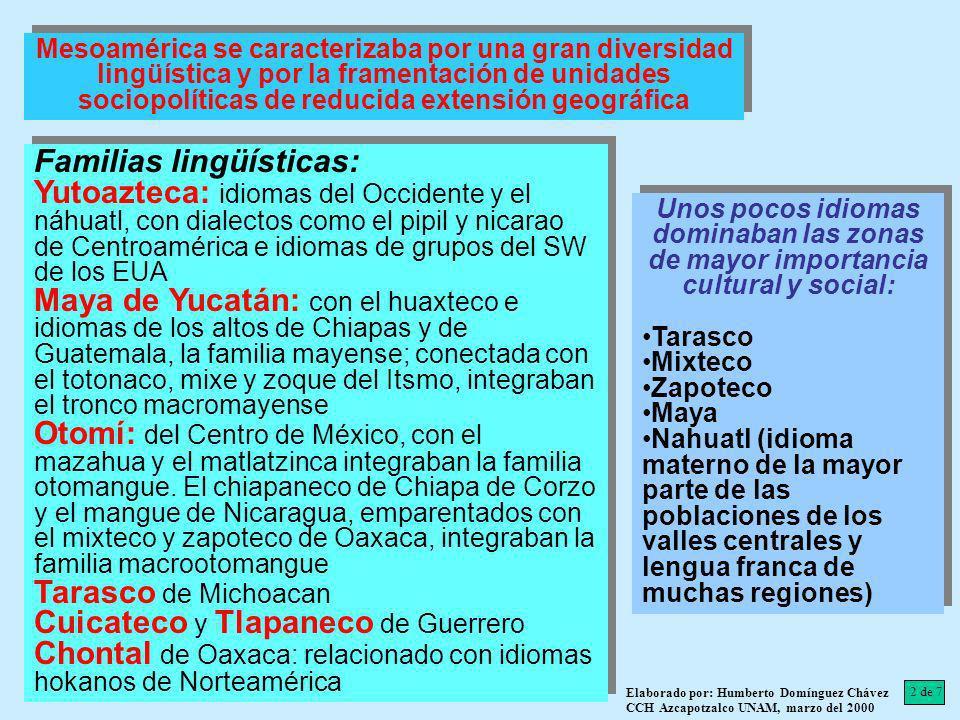 Familias lingüísticas: